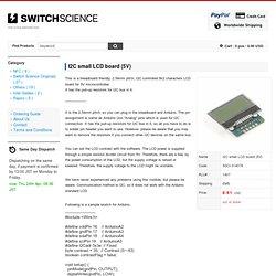 I2C small LCD board