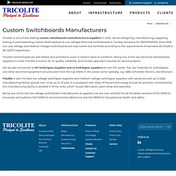 Custom Electrical Low Voltage Switchboards Manufacturers & Suppliers