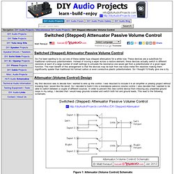 Switched (Stepped) Attenuator Passive Volume Control