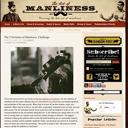 The 5 Switches of Manliness: Challenge