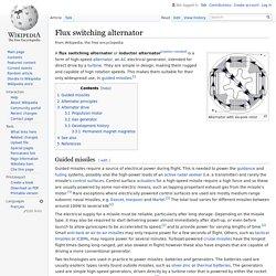 Flux switching alternator - Wikipedia