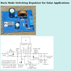 Buck Mode Switching Regulator for Solar Applications