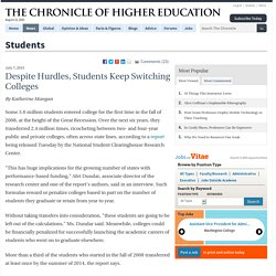 Despite Hurdles, Students Keep Switching Colleges - Students