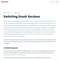 Switching Drush Versions