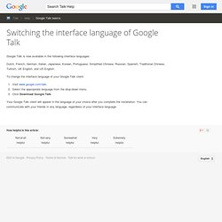 Translation bots - Google Talk Help