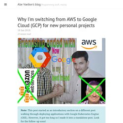 Why I'm switching from AWS to Google Cloud (GCP) for new personal projects · Abe Voelker's blog