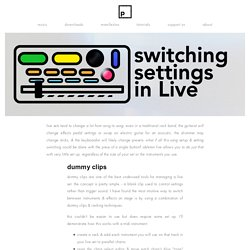 switching settings live — pATCHES