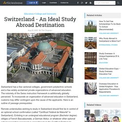 Switzerland - An Ideal Study Abroad Destination