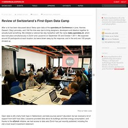 Review of Switzerland's First Open Data Camp on Datavisualization