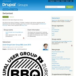 Switzerland | groups.drupal.org