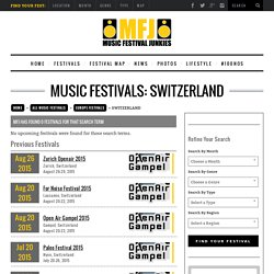 Switzerland Music Festivals 2015