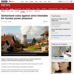 Switzerland votes against strict timetable for nuclear power phaseout