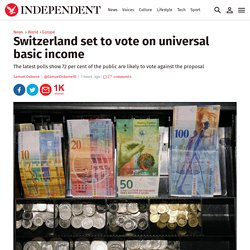 Switzerland set to vote on universal basic income