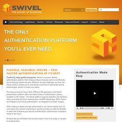 Swivel - Authentication You Can Identify With -