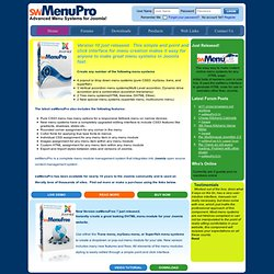 swMenuPro.com - Advanced Menu Systems for Joomla and Mambo - Home