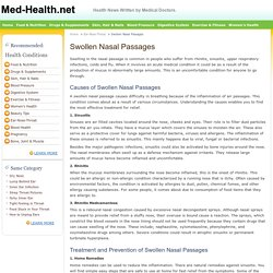 Swollen Nasal Passages