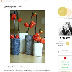 Swoon!: Made at home: Wool Vases