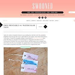 Swooned: Free Printable #4: Watercolor Tags