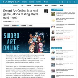 Sword Art Online is a real game, alpha testing starts next month; Sponsored by IBM Japan