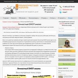 Личностный SWOT-анализ Управленческий Шаолинь