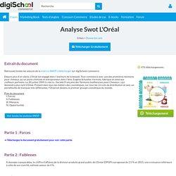 Swot : Analyse Swot L'Oréal
