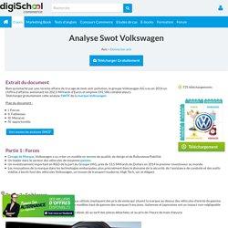 Swot : Analyse Swot Volkswagen