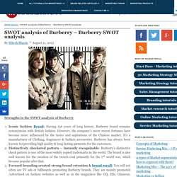 SWOT analysis of Burberry - Burberry SWOT analysis
