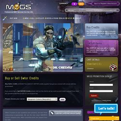 Buy Swtor Credits - Sell Swtor Credits in Online Sale