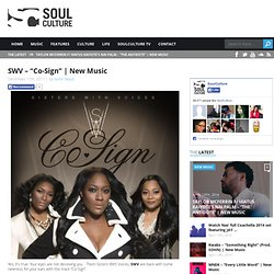 "SWV - ""Co-Sign"" 