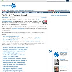 SXSW 2012: The Year of the API