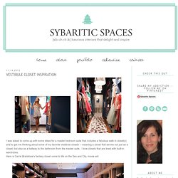 sybaritic spaces: Vestibule Closet Inspiration
