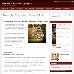 Sycamore Row Written by John Grisham Audio Book