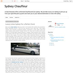 Luxury Limos Sydney For a Perfect Event