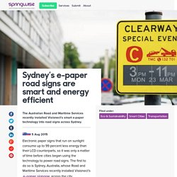 Sydney's e-paper road signs are smart and energy efficient