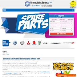 Buy Car Spare Parts Sydney: Genuine Car parts & Accessories