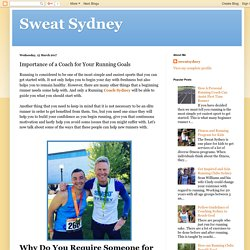 Sweat Sydney: Importance of a Coach for Your Running Goals