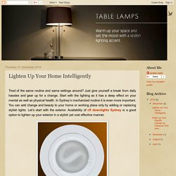 Lighten Up Your Home Intelligently