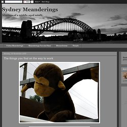 Sydney Meanderings: November 2009