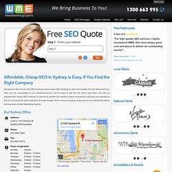 SEO Sydney, Search Engine Optimisation for Businesses in Sydney