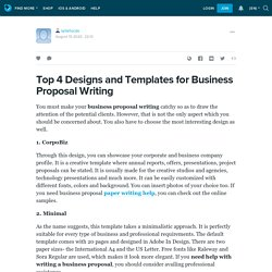 Top 4 Designs and Templates for Business Proposal Writing: sylarlucas — LiveJournal