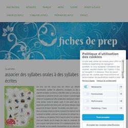 Loto syllabes orales/écrites - Fiches de préparations (cycle1-cycle 2-ULIS)