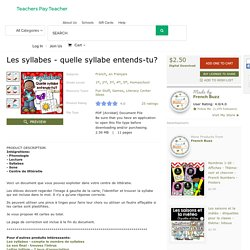 Les syllabes - quelle syllabe entends-tu? by French Buzz