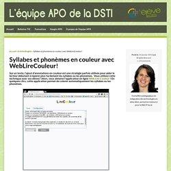Syllabes et phonèmes en couleur avec WebLireCouleur!