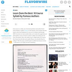 Learn from the Best: 10 Course Syllabi by Famous Authors