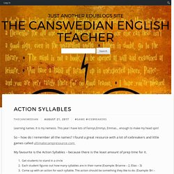 Action Syllables – The Canswedian English Teacher