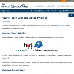 How to Teach Open and Closed Syllables (+ FREE Practice Activity)