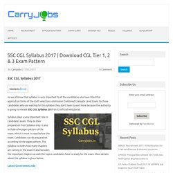 Download CGL Tier 1, 2 & 3 Exam Pattern