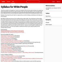 Syllabus for White People