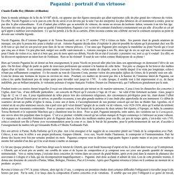 Syllabus: Paganini; portrait d'un virtuose - cvm.qc.ca
