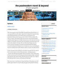 the postmodern novel & beyond